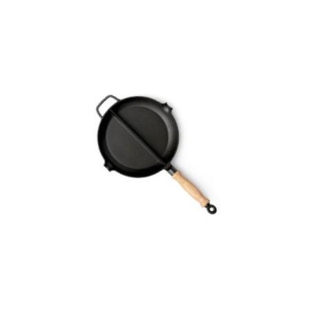 Чугунная сковородка 28 см. с секторами