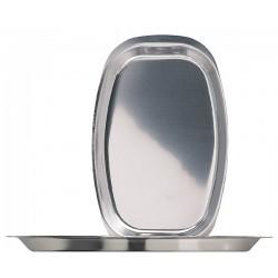 Овальный поднос 37,5х24,0 см. нержавеющая сталь