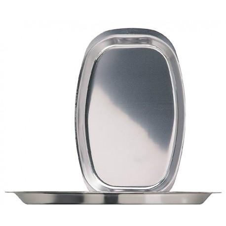 Овальный поднос 37,5х24 см. нержавеющая сталь