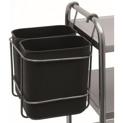 Мусорный контейнер 2х8 л. для кухонной тележки