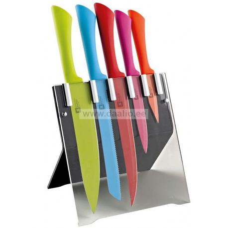 Комплект кухонных ножей Colour Original на подставке
