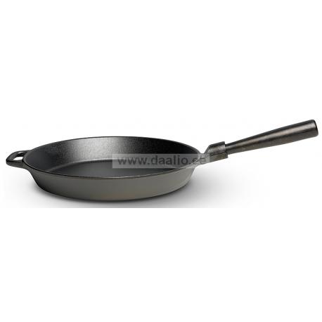 Чугунная сковородка 28 см. низкая