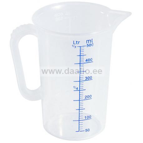 Mõõtekann 0,5 L. polüpropüleen