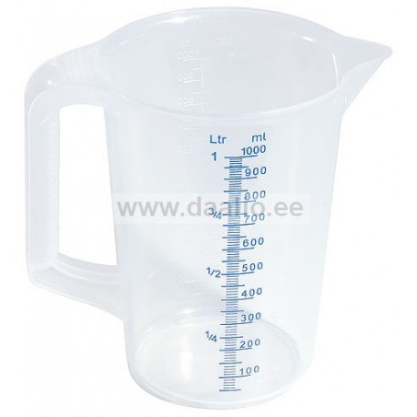 Polüpropüleenist mõõtekann 1,0 L.